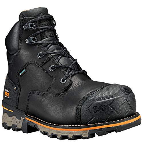 Timberland PRO Men's Boondock 6' Composite Toe Waterproof Industrial & Construction Shoe, Black Full Grain Leather, 11.5 M US