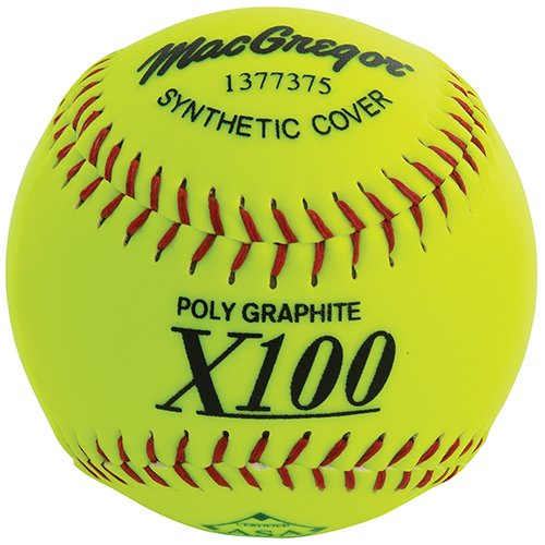 MacGregor X52RE ASA Slow Pitch Synthetic Softball, 12-Inch, Pack of 12