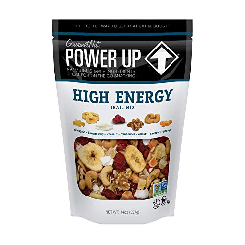 Power Up Trail Mix, High Energy Trail Mix, Keto-Friendly, Paleo-Friendly, Non-GMO, Vegan, GlutenFree, No Artificial Ingredients, Gourmet Nut, 14 oz Bag