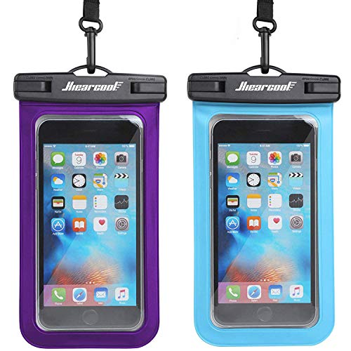 Hiearcool Universal Waterproof Case,Waterproof Phone Pouch Compatible for iPhone 11 Pro Max XS Max XR X 8 7 6S Plus Samsung Galaxy s10/s9 Google Pixel 2 HTC Up to 7.0',IPX8 Cellphone Dry Bag -2 Pack
