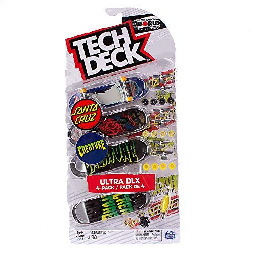 Tech-Deck Ultra DLX 4 Pack 96mm Fingerboards - 2019 Edition (Santa Cruz Creature)