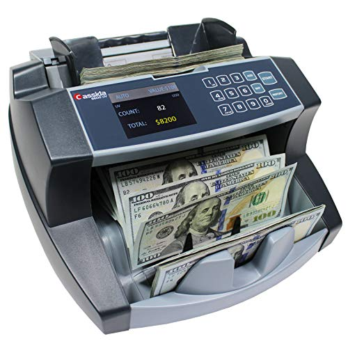 Cassida 6600 Business Grade Money Counting Machine with Ultraviolet (UV) Counterfeit Detection, LCD Display, Multi-Color (6600 Counterfeit Detection)