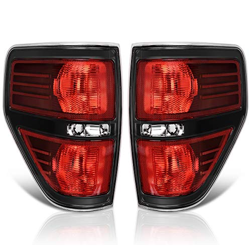 AUTOSAVER88 Taillights Compatible with 2009-2014 Ford F150, F-150 Styleside Pickup Truck Tail Light Assembly Replacement Tail Lamp Passenger and Driver Side