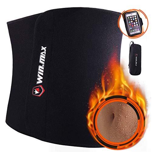 WIN.MAX Waist Trimmer Belt,Waist Trainer for Women,Weight Loss and Sweat Wrap,Slimmer Kit for Men,Abdominal Trainer,Adjustable Waist Cincher Trimmer,Sport Sauna Effect