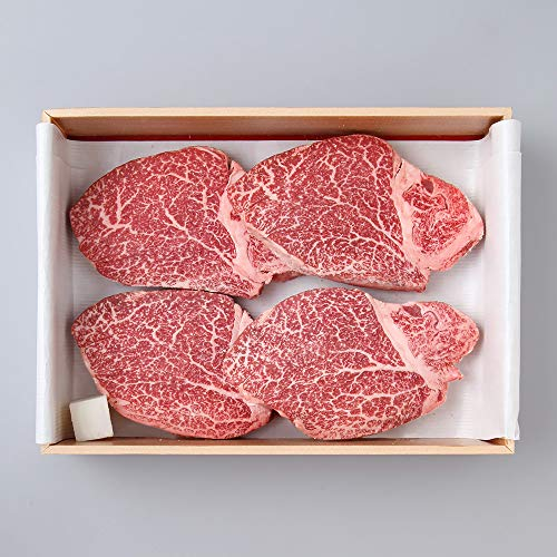 [Ship Next Day Air] Full Blood 100% Japanese Miyazaki Wagyu Tenderloin (Filet Mignon) 'A5 Grade' BMS 8-12 (8 Ounces X 4 Steak) 最高級の宮崎牛A5ランク