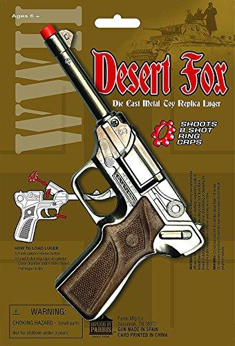 PARRIS CLASSIC QUALITY TOYS EST. 1936 Desert Fox WWII Die Cast Metal Toy Replica Luger Gun