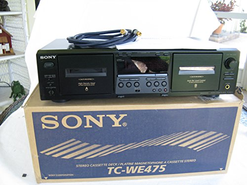 Sony TC-WE 475 Dual Stereo Cassette Deck Player Recorder Includes Cable & Operating Manual