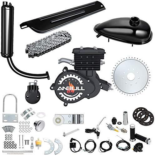 Anbull 80CC 26' 28' Bicycle Engine Kit, Bike Bicycle Motorized 2 Stroke Petrol Gas Motor Engine Kit(Black)