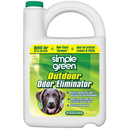 Simple Green Outdoor Odor Eliminator for Pets, Dogs, 1 gallon Refill - Non-Toxic, Ideal for Artificial Lawns & Patio