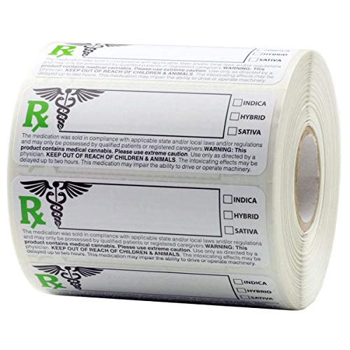 """Generic Medical Compliant Identification Labels - 1,000pc Sticker Roll – 3""""x1"""""""