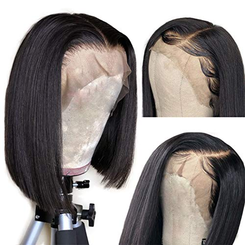 Megalook Short Bob Wigs Lace Front Wigs Human Hair Straight Human Hair Wigs For Black Women 13x4 Lace Front Bob Wigs Pre Plucked Hairline