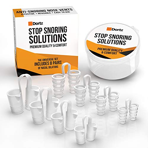 Snore Stopper Set - Anti Snoring Nose Vents (8PCS) - Set of 8 Nasal Dilators - Anti Snoring Devices - Snoring Solution - Natural Stop Snoring Devices Reduce Snoring