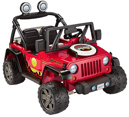 Fisher-Price Power Wheels BBQ Fun Jeep Wrangler, 12V battery-powered ride-on vehicle with pretend grill and food for preschool kids ages 3 to 7 years