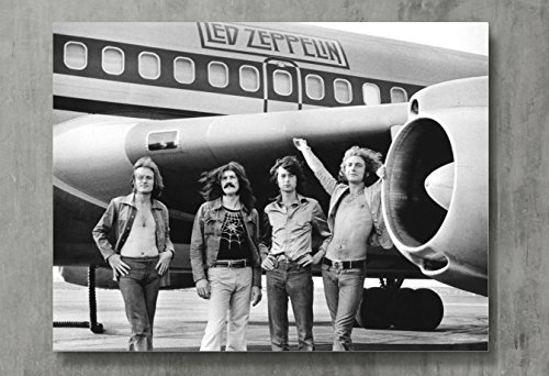 Led Zeppelin Poster - Zeppelin Canvas Print Classic Rock Wall Art Posters Print Standard Size 18'x24' Inches