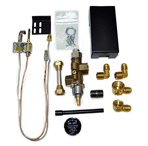 Hearth Products Controls Copreci Side Inlet Safety Pilot Kit with 3-inch Swivel Quick Connect (72PKNQM), Natural Gas