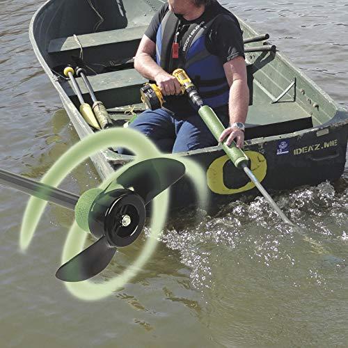 Drill Paddle for Canoe, Kayak, Raft, Boat, Outdoors, Pontoons, Fishing Tubes, Watercraft, Dingy, Sailboat