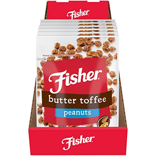 FISHER Snack Butter Toffee Peanuts, 5.5 oz (Pack of 6)