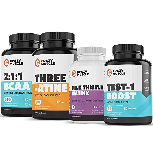 Advanced Bulking Stack (4 Product Bundle) by Crazy Muscle: Sky Rocket Your Muscle Building