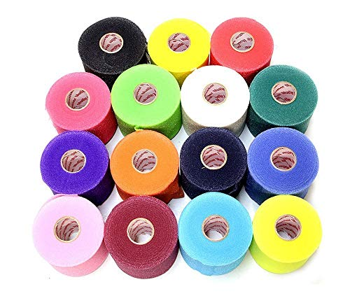 Mueller Underwrap - PreWrap for Athletic Tape/Taping/Head/Hair Bands - Rainbow Assorted Colors - 12/PACK