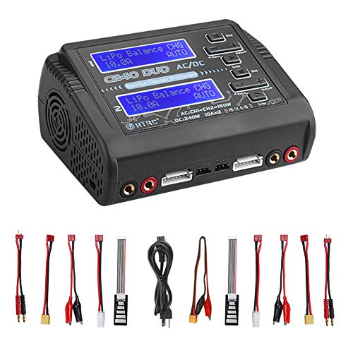 LiPo Charger Discharger Dual AC150W DC240W 10A C240 1-6S Duo Balance Battery Chargers for Li-ion Life NiCd NiMH LiHV PB Smart Battery