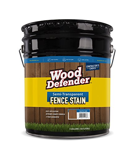 Wood Defender - Semi-Transparent Fence Stain- Coffee Brown- 5 Gallon