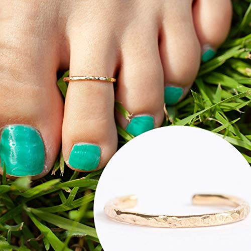 14k Gold Filled Hawaiian Adjustable Open Toe Ring One Size Fits Most Toes
