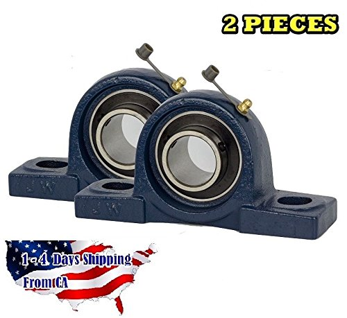 UCP202-10 Pillow Block Bearing 5/8' Bore 2 Bolt Solid Base (2 Pieces)