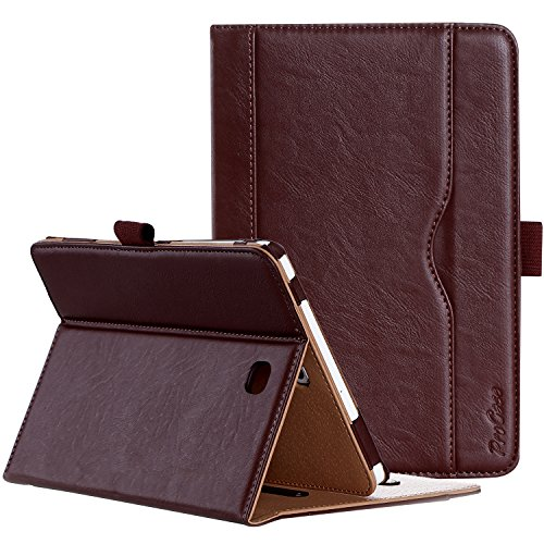 ProCase Galaxy Tab S2 8.0 Case - Leather Stand Folio Case Cover for 2015 Galaxy Tab S2 Tablet (8.0 inch, SM-T710 T715 T713) - Brown