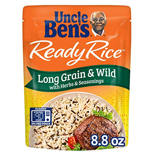 Uncle Ben's Ready Rice: Long Grain & Wild Rice, Ready to Heat 8.8 Oz Pouches, Pack of 6