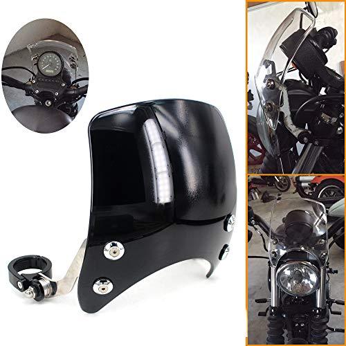 GUAIMI Windscreen 5' Round-Headlight Windshield 39-41mm Fork Mount for Harley Davidson Sportster XL 883 1200 XL48 72 Custom Cruisers