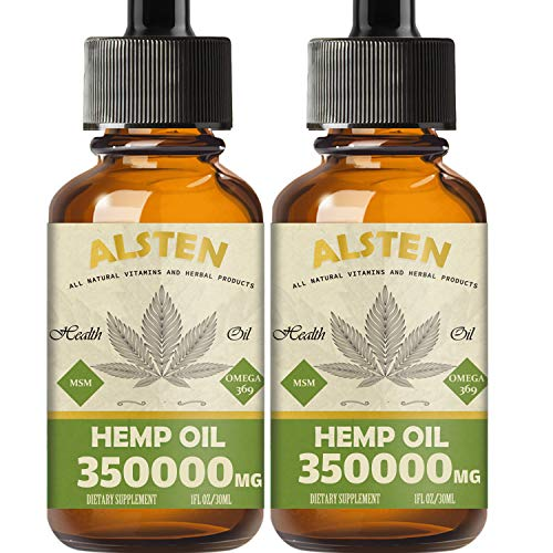 2 pack Hemp Oil - 350,000MG Hemp Oil Drops