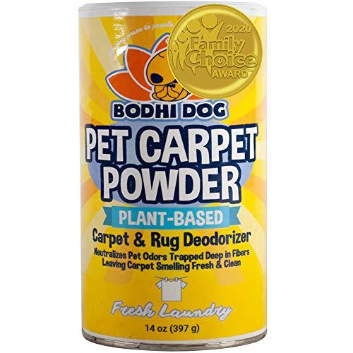 Natural Dog Odor Carpet Powder | Dry Pet Smell Neutralizer and Eliminator | Remove Urine Smells | Plant Based Biodegradable Room Deodorizer Loosens Fur and Dirt