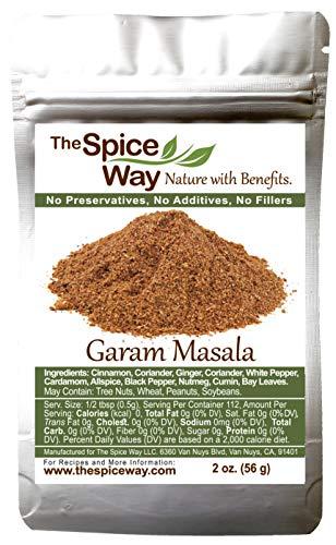 The Spice Way Garam Masala - An Indian Seasoning Mix for Meat. A wonderful combination of spices including cinnamon, galangal and more.(Goda Masala / Gram Masala / Graham Masala) 2 oz (resealable bag)