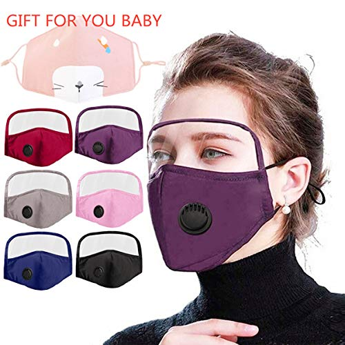 6pcs Face and Eyes Shield With Breathing Valve Covering Face and Mouth Suitable For Women and Men
