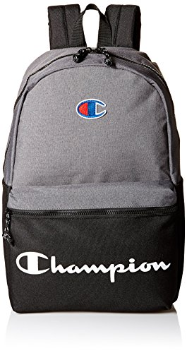Champion Men's Manuscript Backpack, heather grey, One size