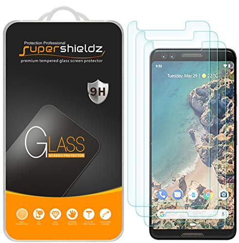 (3 Pack) Supershieldz for Google (Pixel 3) Tempered Glass Screen Protector Anti Scratch, Bubble Free