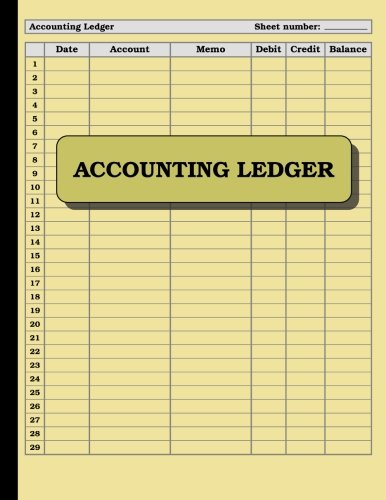 Accounting Ledger: 120 pages: Size = 8.5 x 11 inches (double-sided), perfect binding, non-perforated