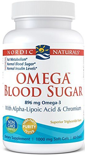 Nordic Naturals - Omega Blood Sugar, With Alpha-Lipoic Acid & Chromium, 60 Soft Gels