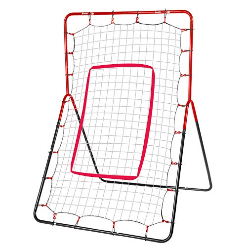 Franklin Sports Pitch Return - Baseball Rebounder and Fielding Trainer - Youth Baseball Training Equipment - Heavy Duty All-Weather Steel Construction - 55 x 36 Inch