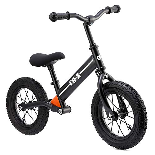 CO-Z Kids Balance Bike for 2-5 Year Olds with 12' Rubber Air Tires, Easy Step Through Frame Bike for Boys and Girls, No Pedal Toddler Scooter Bike, Ride On Toy for Children, Lightweight Kids Bicycle