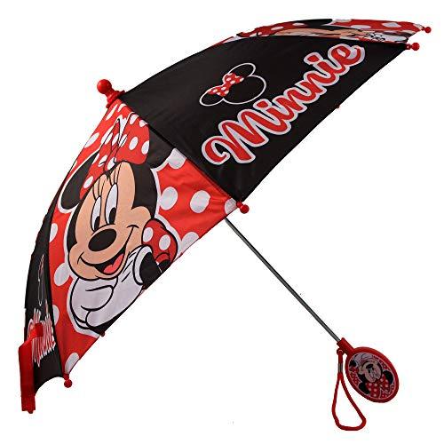 Disney Girls' Little Assorted Character Rainwear Umbrella, Minnie Mouse, Age 3-6