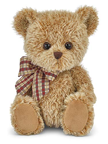 Bearington Baby Shaggy Brown Plush Stuffed Animal Teddy Bear, 12 inches
