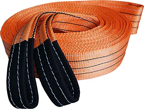 Titan Auto Heavy Duty Recovery Strap | for Off-Road Recovery and Towing (3.5' x 30' 35K LBS, Orange & Black)