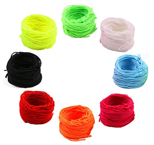 PENTA ANGEL 80 Yoyo String (10 Each - Florescent Lime Green, Yellow, Orange,Blue ,Rose ,Red ,Black and White)