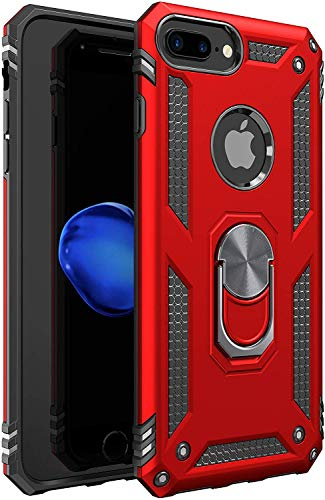 iPhone 6 Plus Case   iPhone 6S Plus Case [ Military Grade ] 15ft. Drop Tested Protective Case   Kickstand   Compatible with Apple iPhone 6Plus / iPhone 6s Plus Case 5.5-Inch - Red