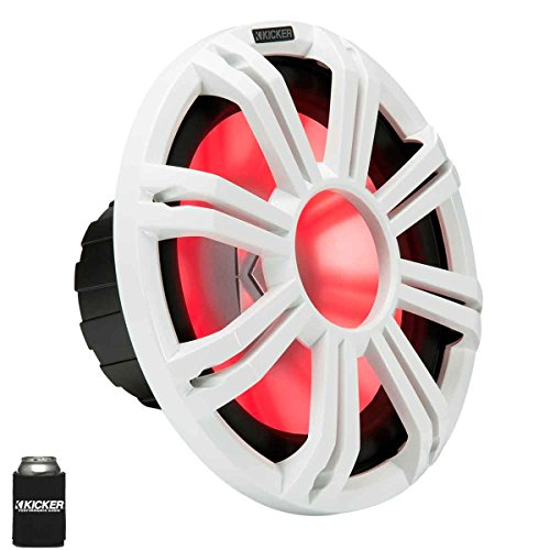 KICKER KMF124 12' Marine Subwoofer with LED White Grill 4 Ohm for Free Air Applications