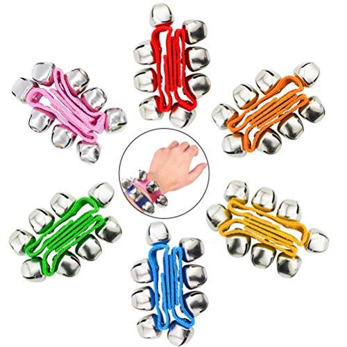 POPLAY Band Wrist Bells, 12 PCS, 6 Colors