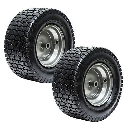 EPR (2) 16x6.50-8 Turf Tire Riding Mower Tractor Rim Wheel Assembly 3/4' ID x 3' Keyed Offset Hub 2 Ply