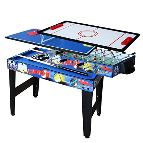 AIPINQI 31.5 Inch 4 in 1 Multifunction Combo Game Table, Pool Table, Foosball Table, Hockey Table, Table Tennis Table