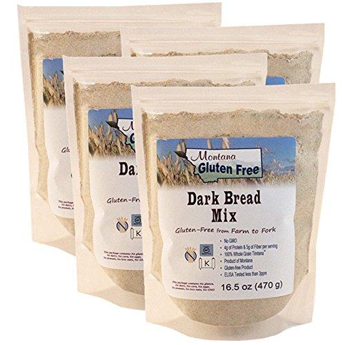 Montana Gluten Free Dark Bread Mix - 4 Pack